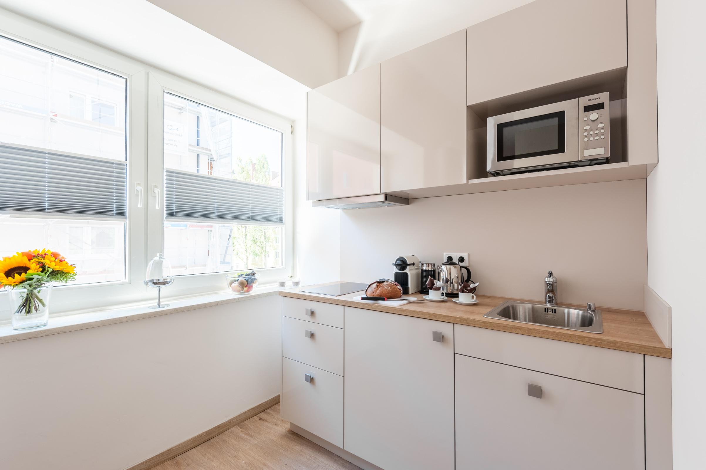 Kitchen with Nespressomachine